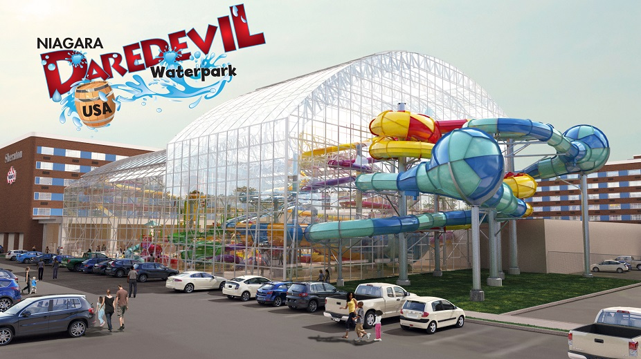A rendering of the proposed 40,000-square-foot waterpark that's part of a $70 million development proposal in Niagara Falls.  (Courtesy American Niagara Hospitality)
