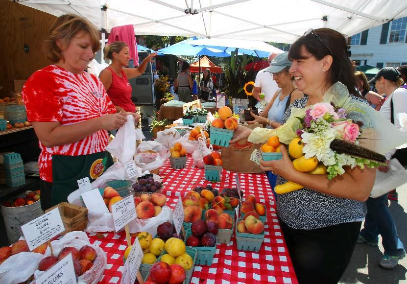 The Williamsville Farmers Market has returned to its original Spring Street location. (John Hickey/Buffalo News file photo).