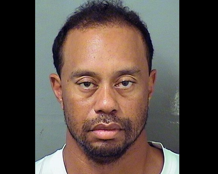 In this handout photo provided by The Palm Beach County Sheriff's Office, golfer Tiger Woods is seen in a police booking photo after his arrest on suspicion of driving under the influence May 29, 2017 in Jupiter, Fla. Woods has been released on his own recognizance. (Photo by The Palm Beach County Sheriff's Office via Getty Images)