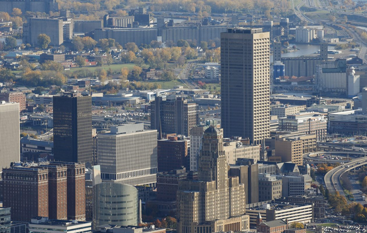 The Buffalo skyline, Friday, Nov. 4, 2016.  (Derek Gee/Buffalo News)