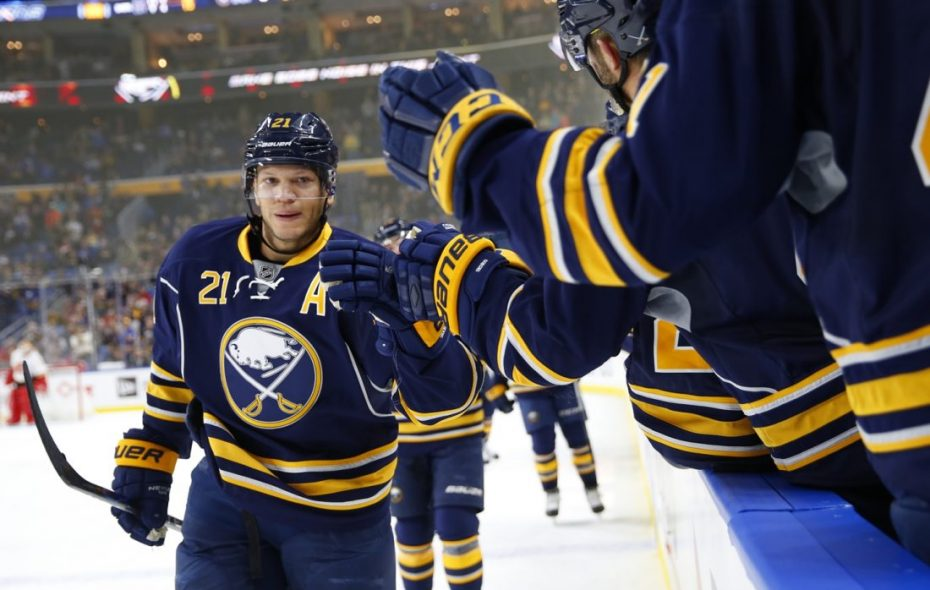"""Kyle Okposo """"looks great,"""" according to new Sabres GM Jason Botterill. (Harry Scull Jr./The Buffalo News)"""