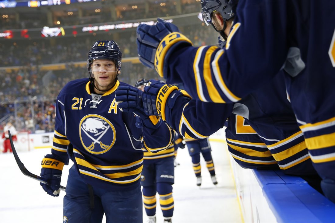 Kyle Okposo 'looks great,' according to new Sabres GM Jason Botterill. (Harry Scull Jr./The Buffalo News)