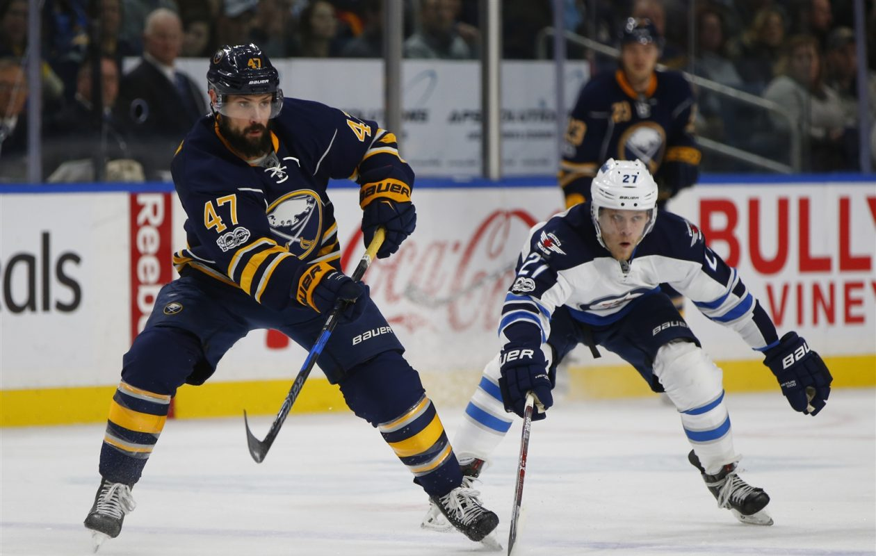 If the Sabres want to lose a big contract in the NHL expansion draft, exposing defenseman Zach Bogosian could help. (Harry Scull Jr./Buffalo News)