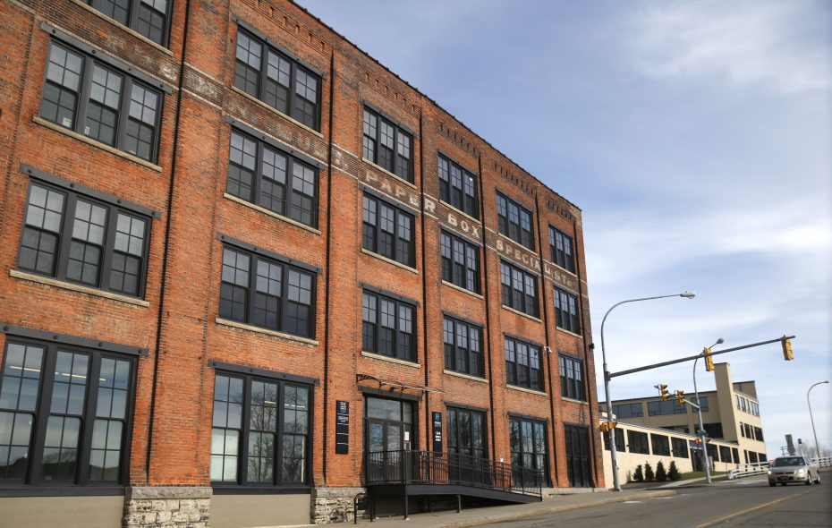 500 Seneca houses the Hydraulics Lofts.  (Robert Kirkham/Buffalo News file photo)