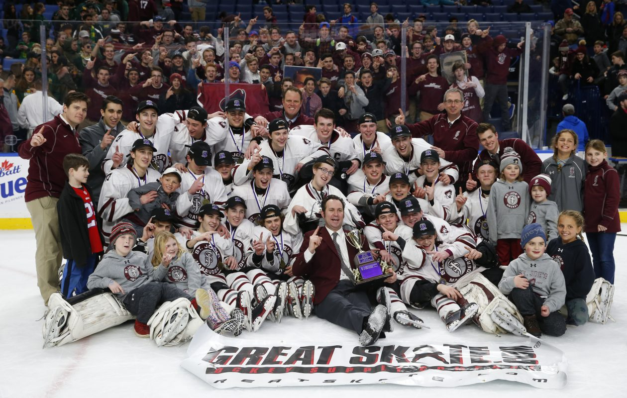 St. Joe's is ranked the No. 1 boys hockey team in New York State. (Harry Scull Jr./Buffalo News)