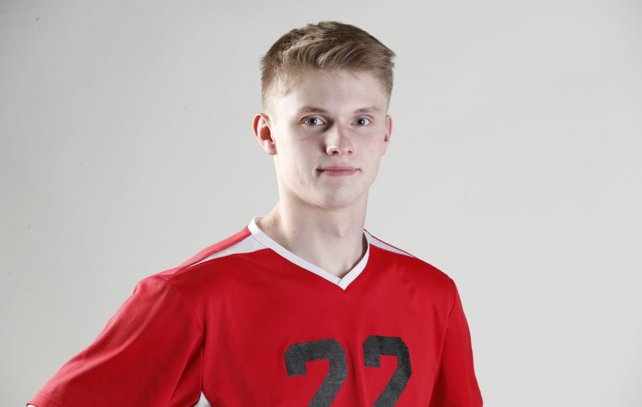 The Prep Talk Player of the Year for boys volleyball is Henry Payne of Clarence.  (Harry Scull Jr./Buffalo News)
