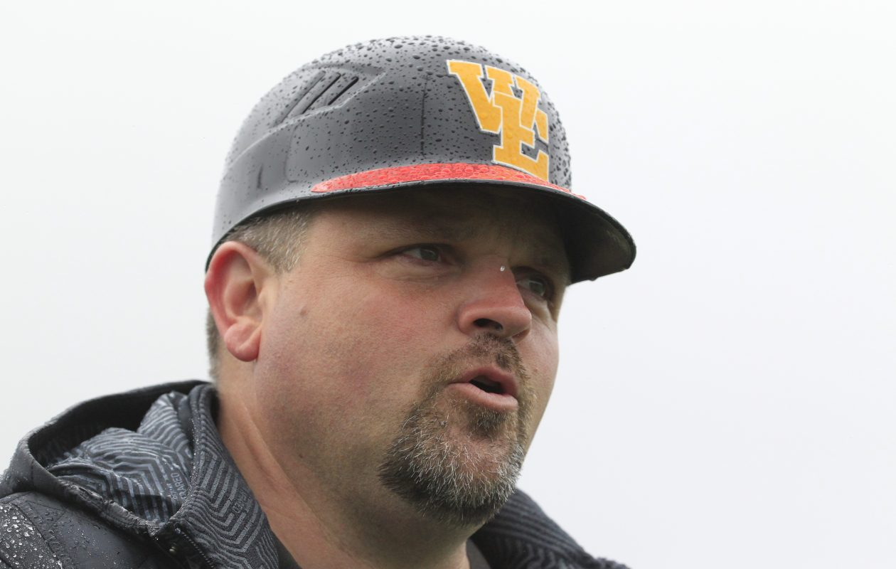 WIlliamsville East girls soccer, girls basketball and softball coach Chris Durr took home the Prep Talk Coach of the Year award Wednesday night. (Harry Scull Jr./Buffalo News)