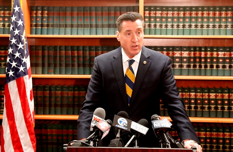 'Let this be a message to drug dealers that if you sell drugs and the person dies, I am coming after you,' says Erie County District Attorney John Flynn  (News file photo)