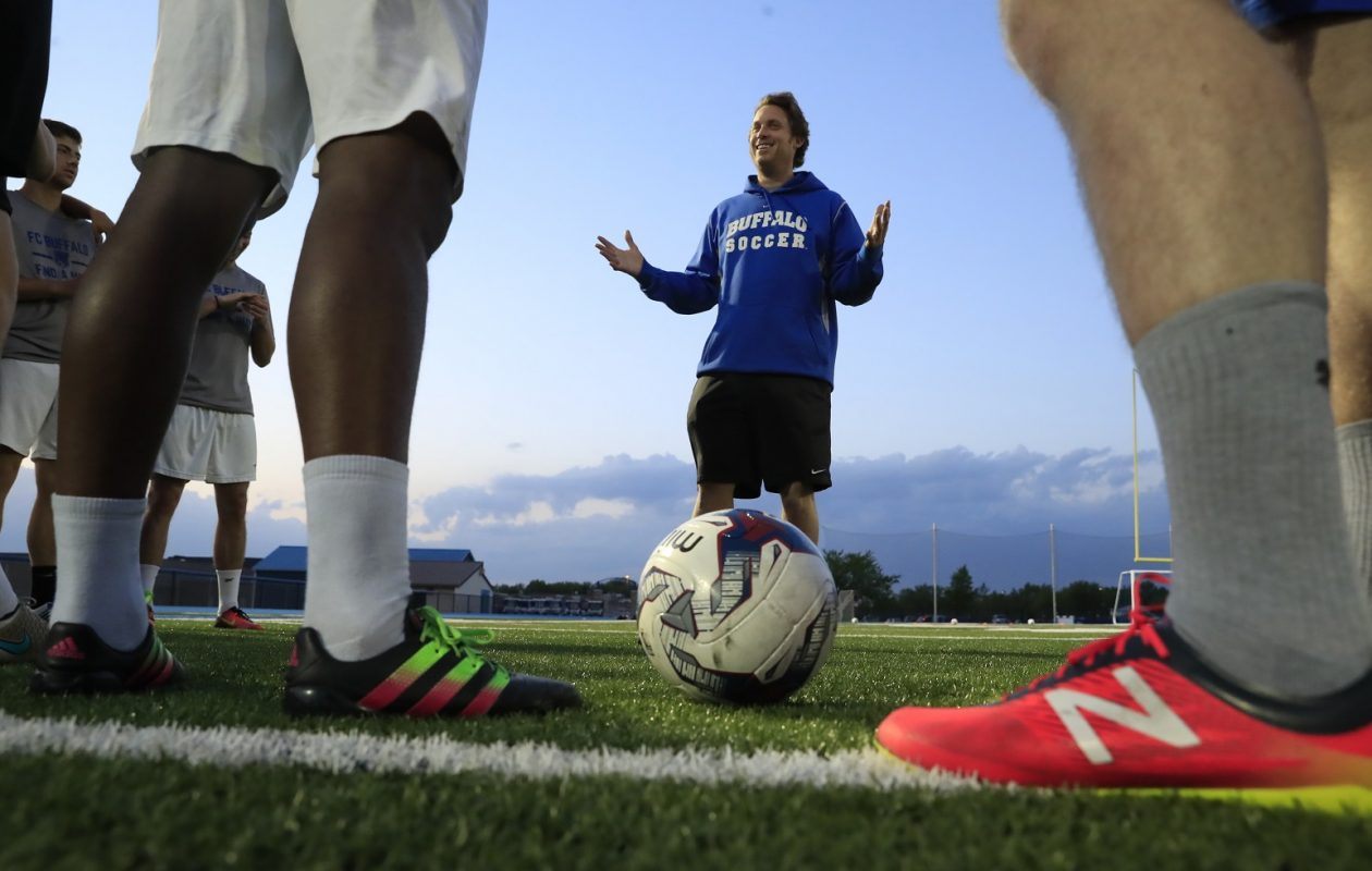 FC Buffalo head coach Frank Butcher will seek better fortunes against Syracuse on Sunday. (Harry Scull Jr./Buffalo News file photo)