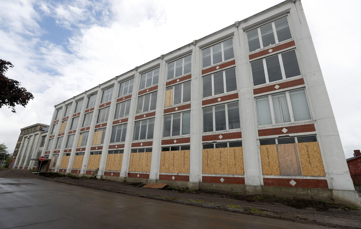 Exterior of the former Clearing Niagara factory on Northland Avenue in Buffalo.           (Mark Mulville/Buffalo News)