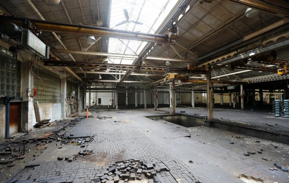 Built a century ago, the long-vacant former Niagara Machine & Tool Works is being cleared for reuse as part of the Northland Avenue Belt Line Corridor. (Mark Mulville/Buffalo News)