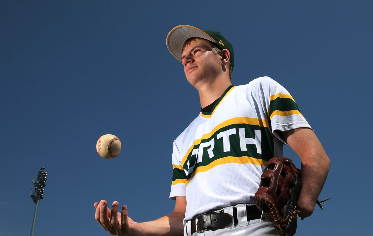 Luke Terry of Williamsville North baseball and basketball will receive the [BN]spired Award at the 2017 Prep Talk Awards.  (James P. McCoy/Buffalo News)