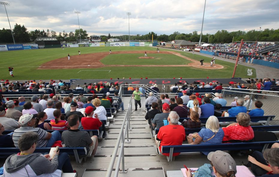 The crowd's view of the field at Dwyer Stadium, the home of the Batavia Muckdogs. (Sharon Cantillon/News file photo)