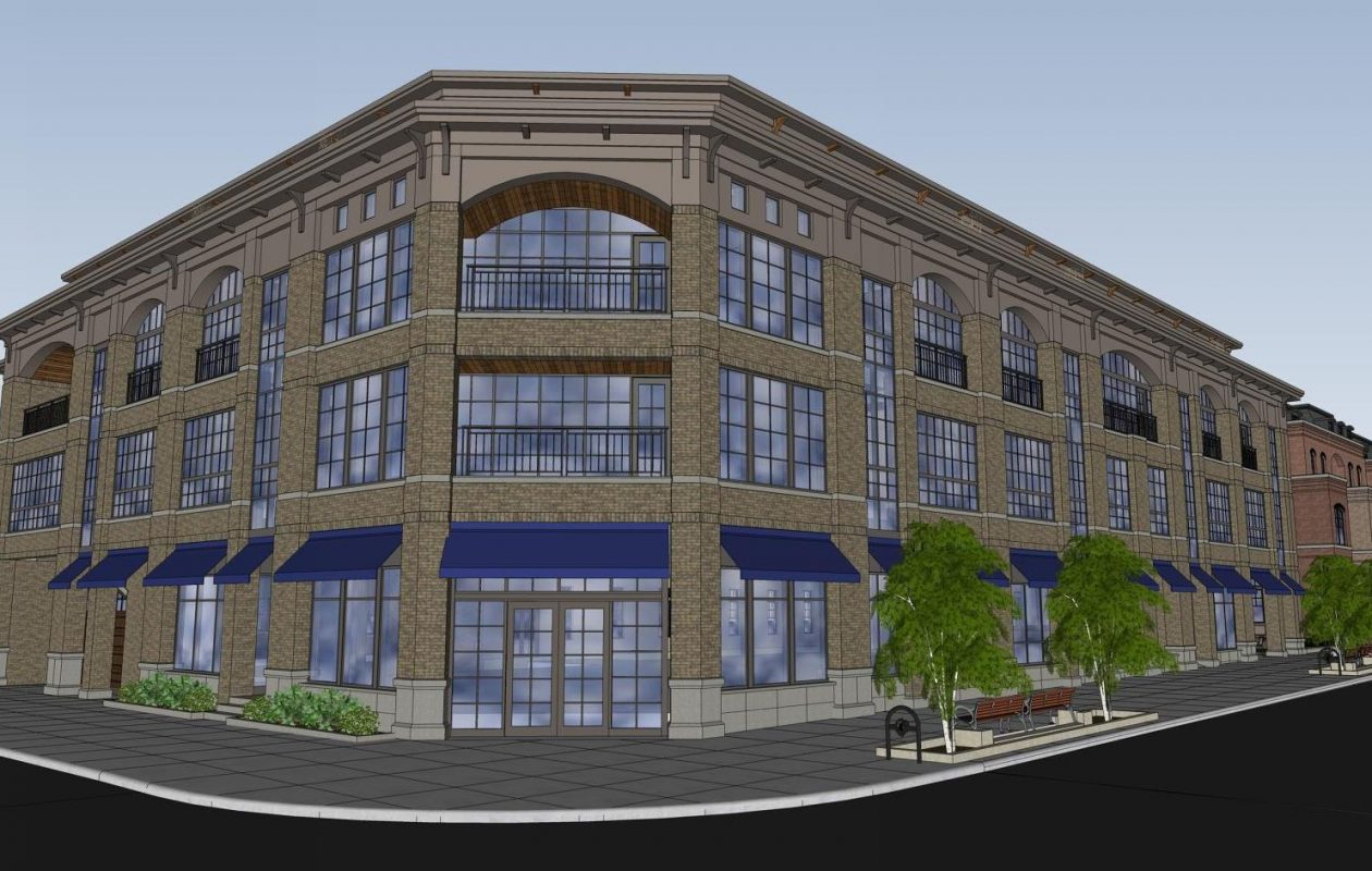A view from the corner of Elmwood and Forest avenues of the proposed project.