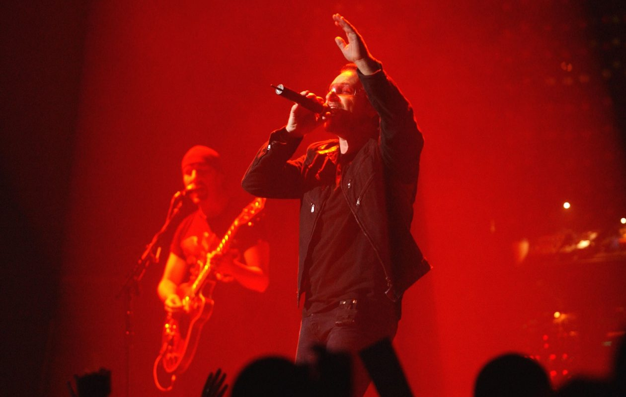 Bono, lead singer of U2, sings at HSBC Arena in Buffalo in 2001. (Robert Kirkham/Buffalo News file photo)