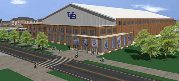 An artist's rendering of the UB Fieldhouse. (UB Communications)
