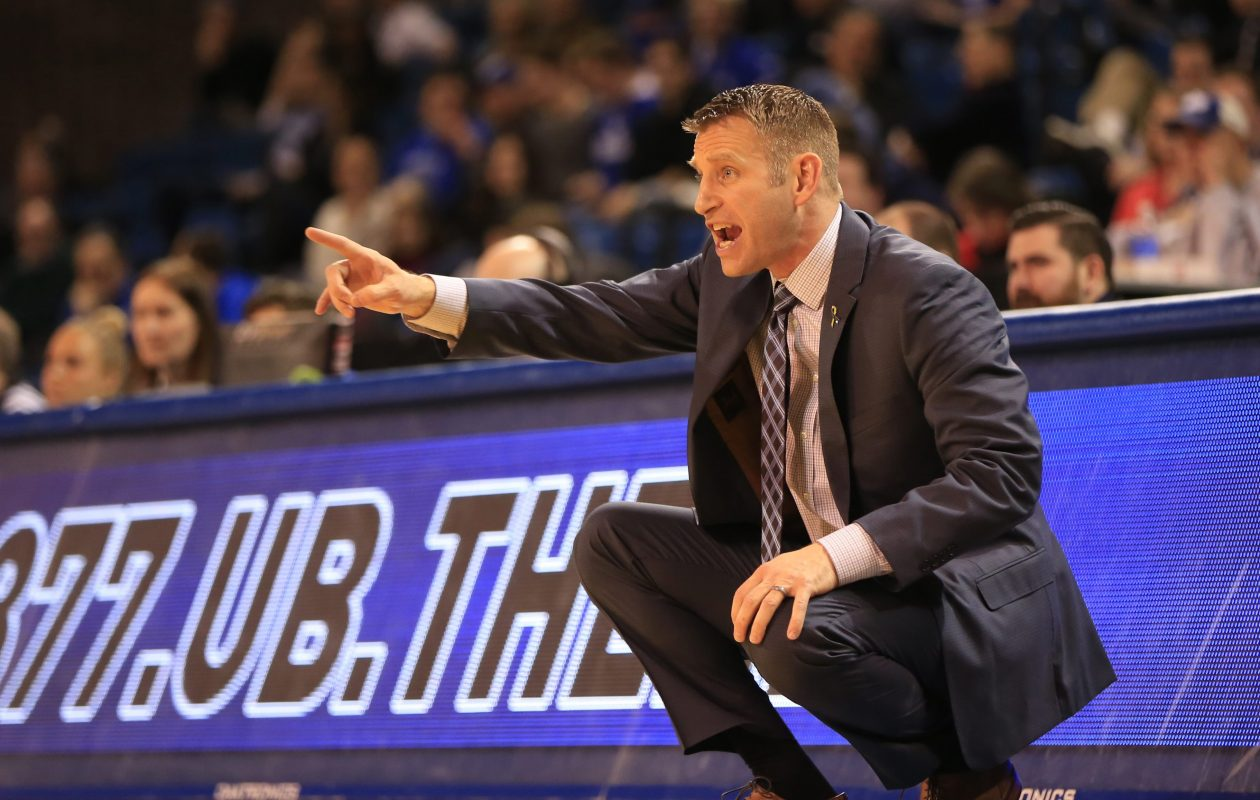 UB men's basketball coach Nate Oats. (Harry Scull Jr./News file photo)