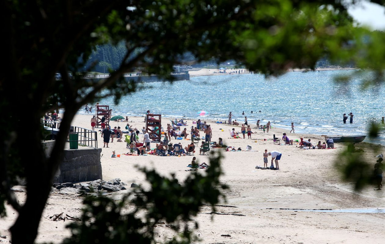 The beach at Wright Park in Dunkirk. (Robert Kirkham/News file photo)