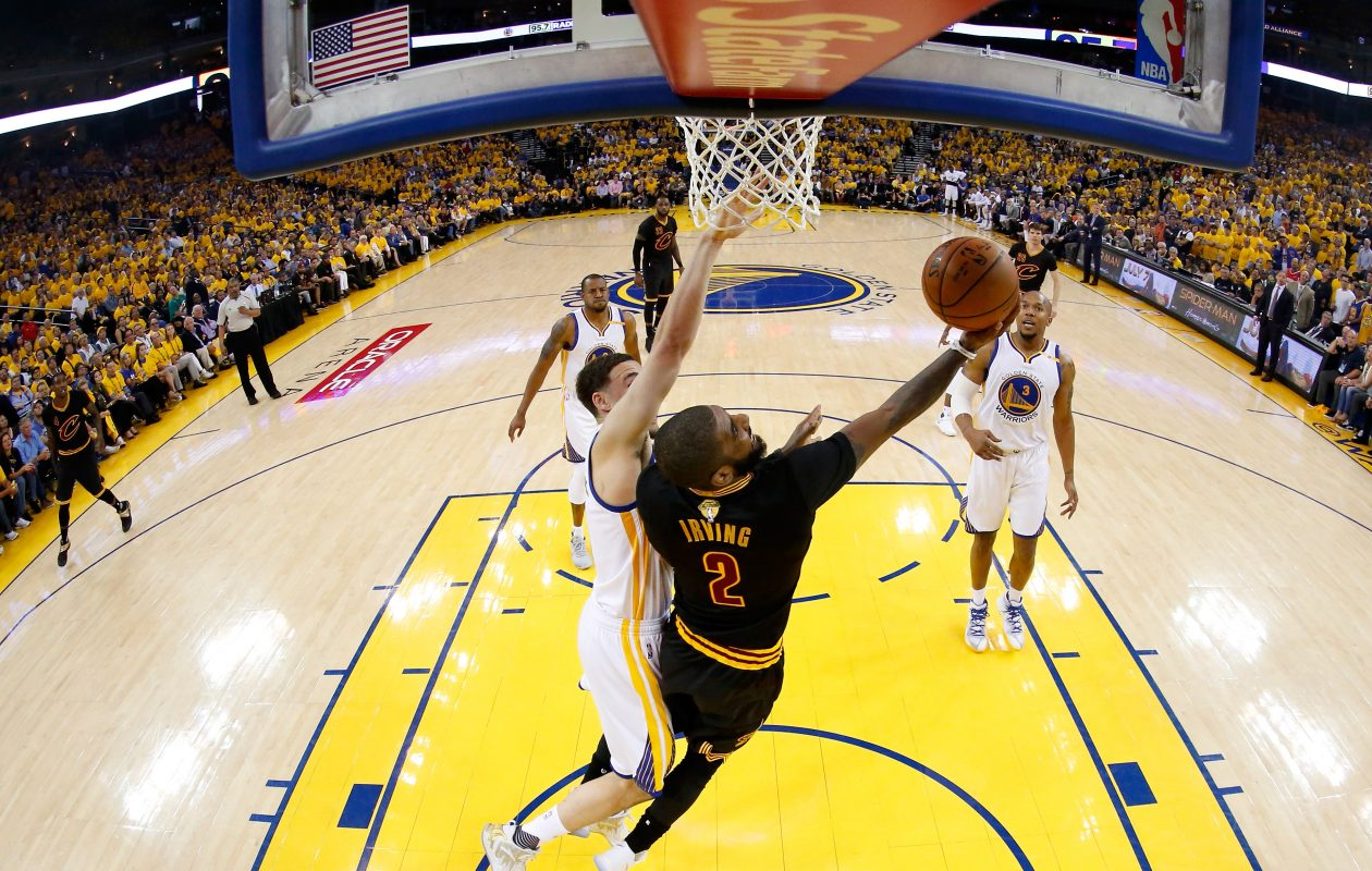 The Cavaliers' Kyrie Irving hasn't made the same impact in the Finals so far that he did last year. (Getty Images)