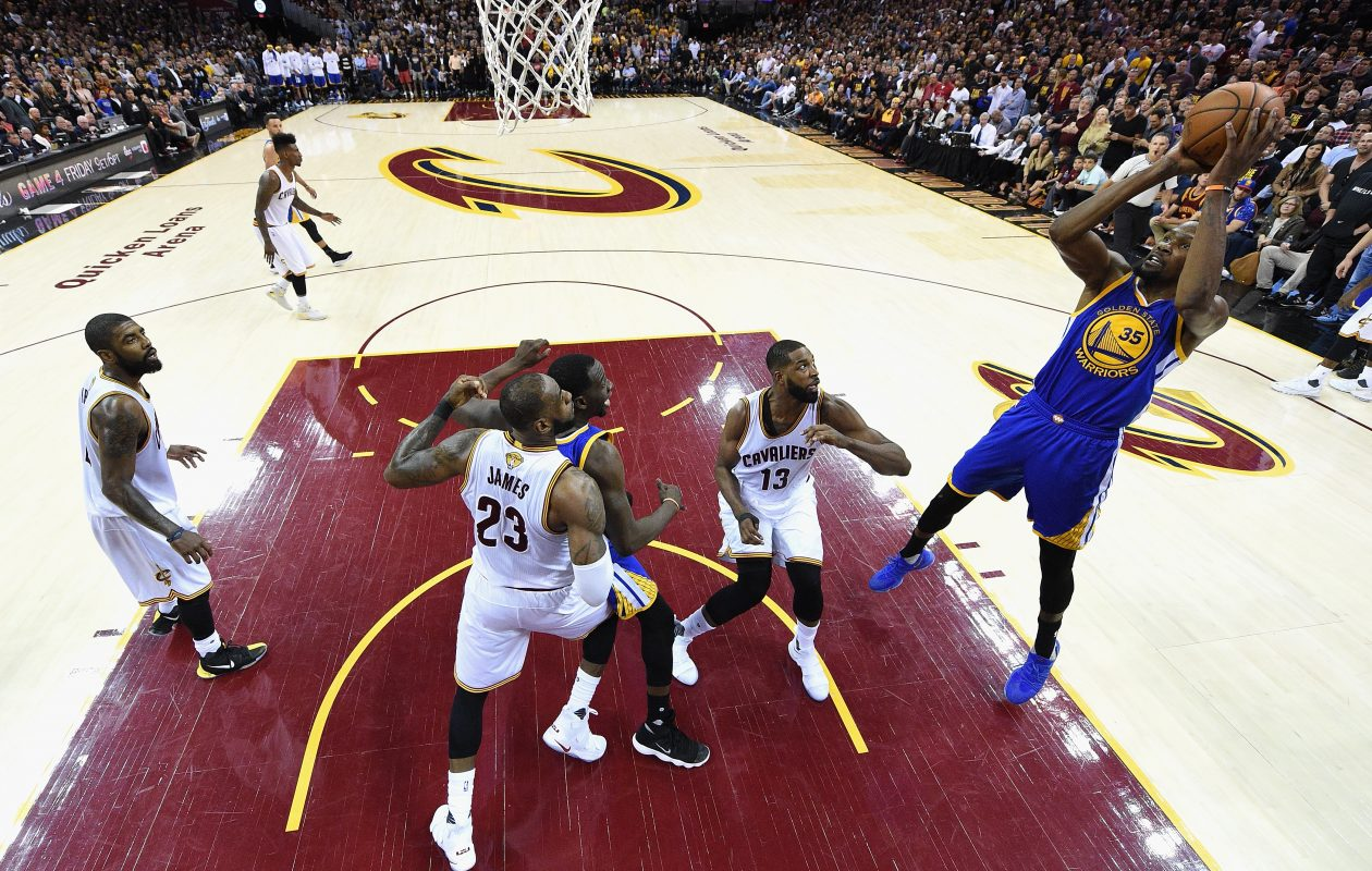 Cleveland's Tristan Thompson (13) has been nearly invisible in the NBA Finals. (Getty Images)