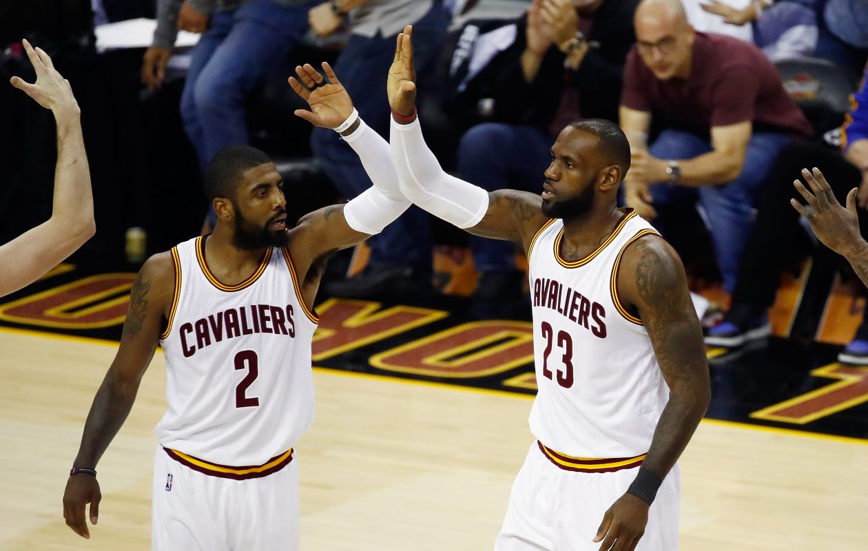 Kyrie Irving and LeBron James had everything going in Friday's Game Four of the NBA Finals. (Getty Images)