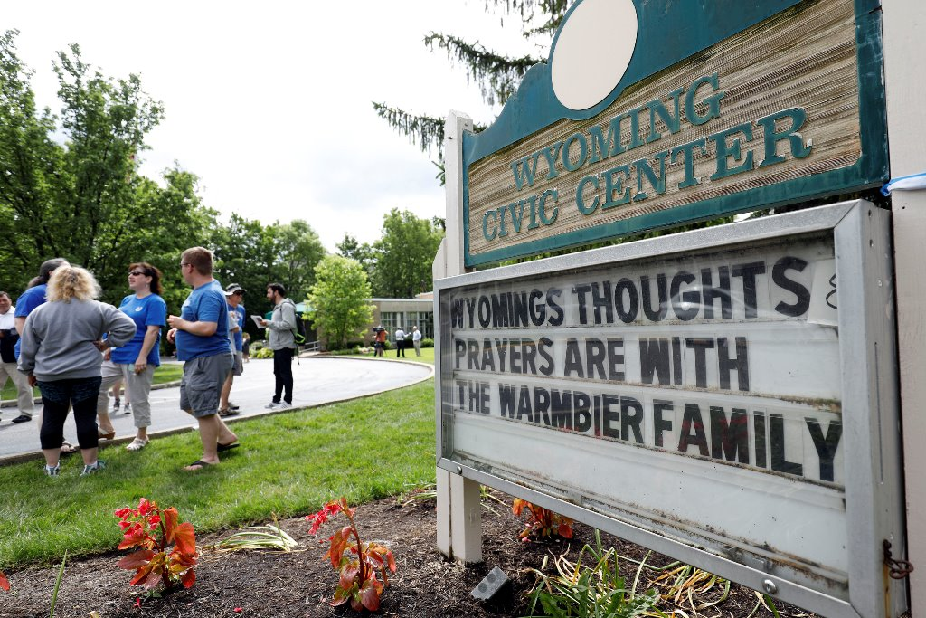 Friends and supporters of Otto Warmbier, who was released from a North Korean prison last week, gather to show their support for the Warmbier family Thursday in Wyoming, Ohio. Otto Warmbier  died Monday afternoon after being sent home from North Korea in a coma. He spent 17 months in a North Korean prison after being sentenced to 15 years for allegedly attempting to steal a propaganda poster.  (Getty Images)