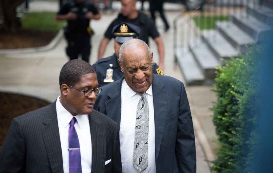 Actor and comedian Bill Cosby arrives for the sixth day of jury deliberations in Cosby's sexual assault trial Friday. The judge Saturday declared a mistrial after the jury was unable to agree on a verdict. (Getty Images)