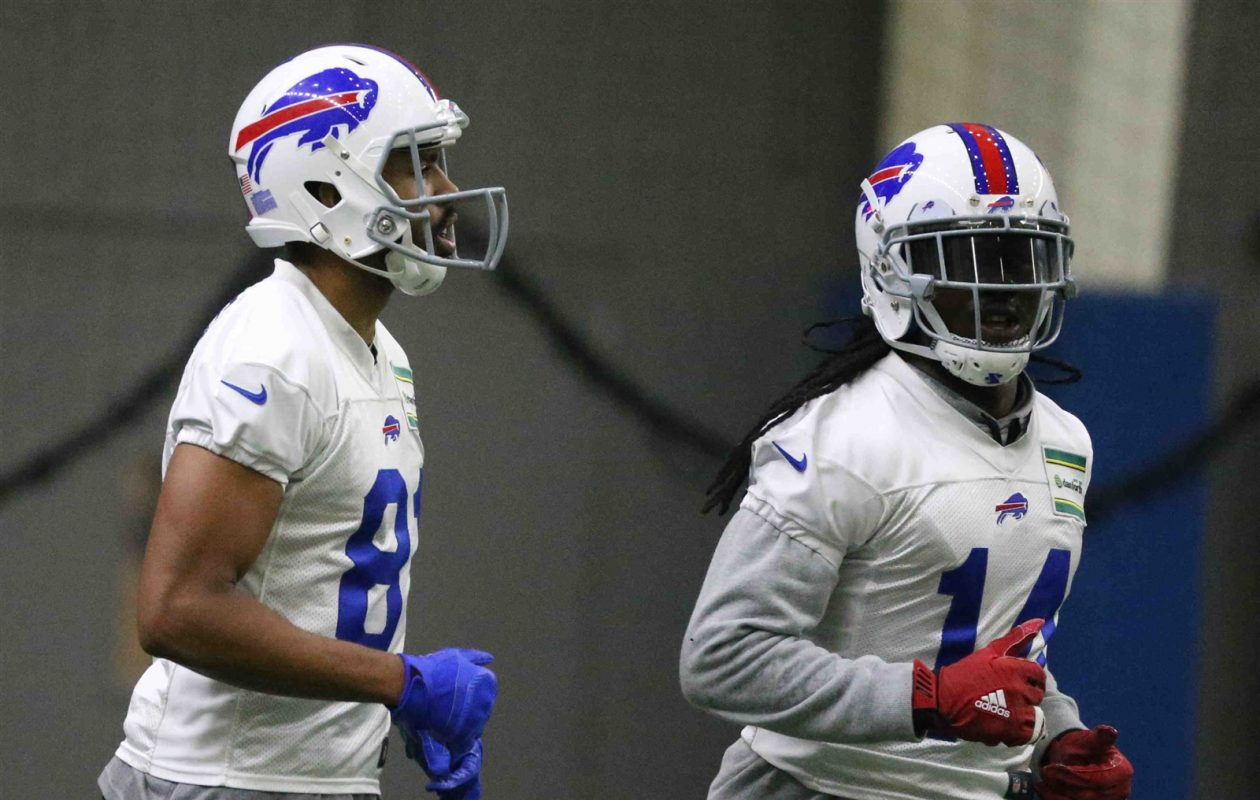 Andre Holmes, left, could prove to be a running mate to Sammy Watkins at wide receiver for the Buffalo Bills. (James P. McCoy/Buffalo News)