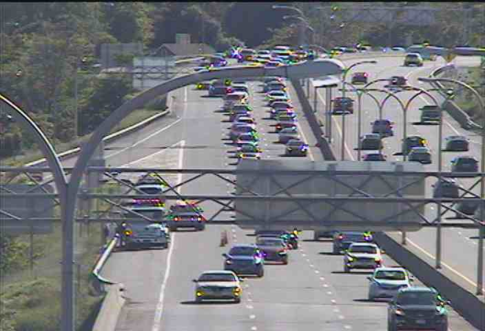 An accident near the Suffolk Street exit on Route 33 eastbound. (Photo courtesy of NITTEC)