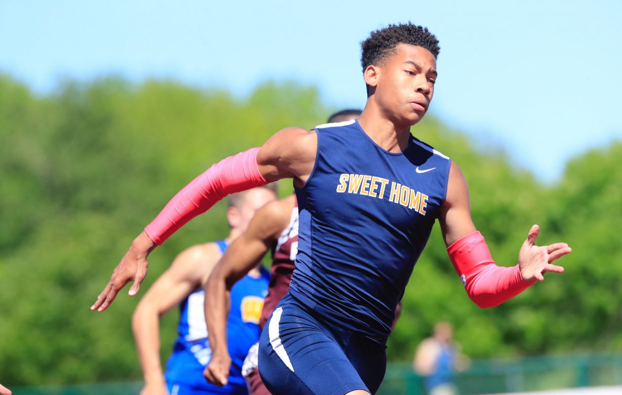 Sweet Home junior Nathaniel Davis won Division I individual titles in the 100 and 200 meters  and also anchored the 4x100 and 4x400 relays. (Harry Scull Jr./Buffalo News)