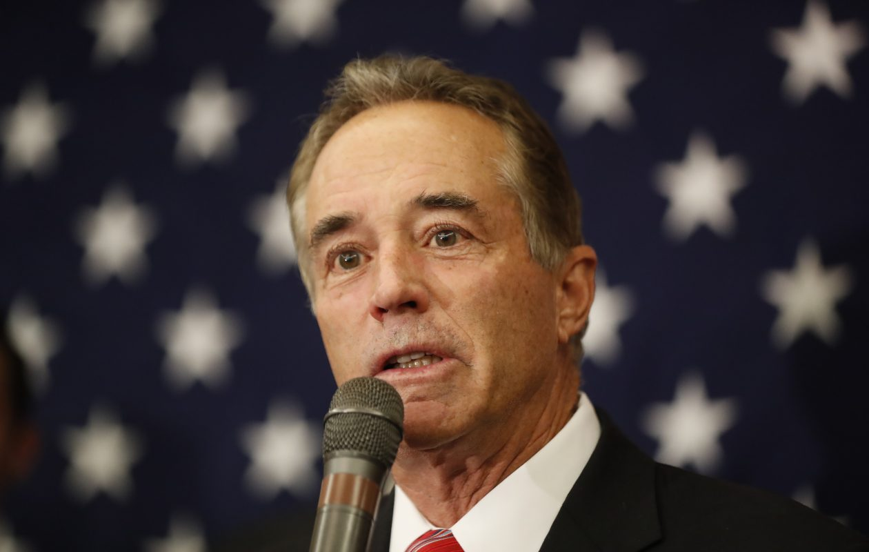 Rep. Chris Collins, R-Clarence, speaks after being re-elected Nov. 8, 2016 at Republican headquarters at the Avant Building. (Harry Scull Jr./News file photo)