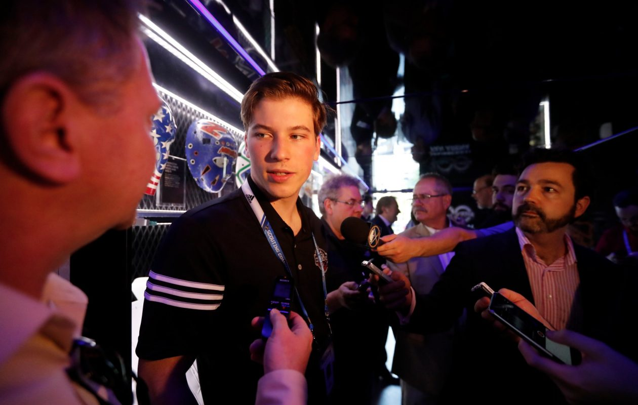 Top-ranked prospect Nolan Patrick said Friday he enjoyed a 'laid-back' interview with the Sabres. (Mark Mulville/Buffalo News)