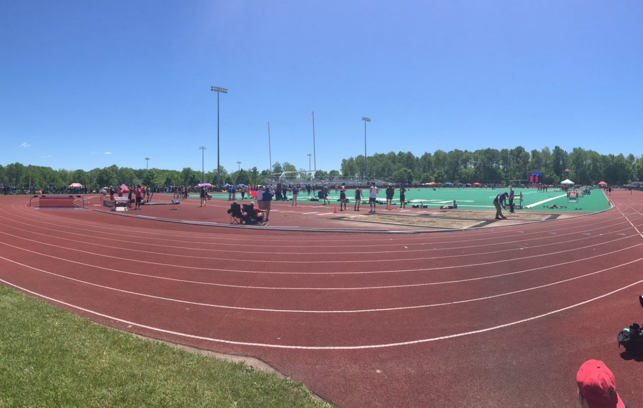 The News is #PrepTalkLive from the Section VI track meet. (Corey Desiderio/Buffalo News)