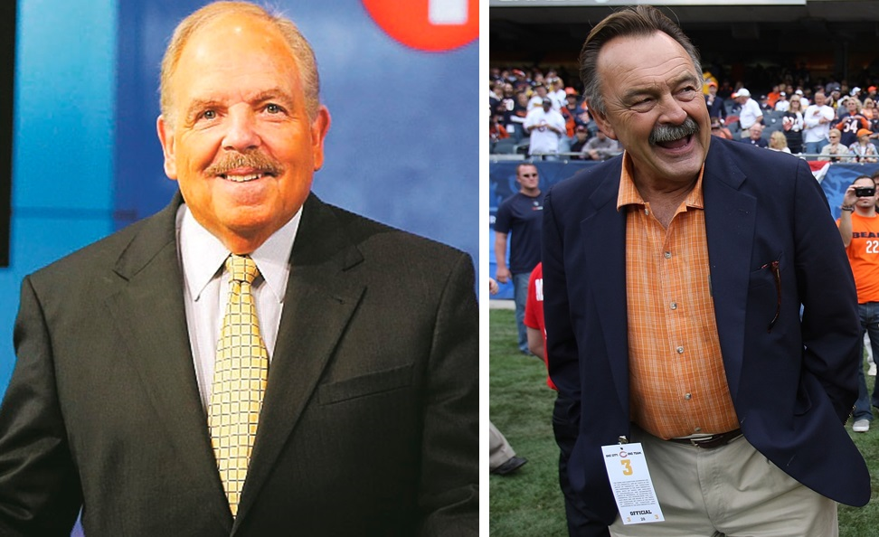 A run-in with Chicago Bears great Dick Butkus, right, was one memorable moment from the early part of Don Paul's career. (Mark Mulville/Buffalo News file photo; Getty Images)
