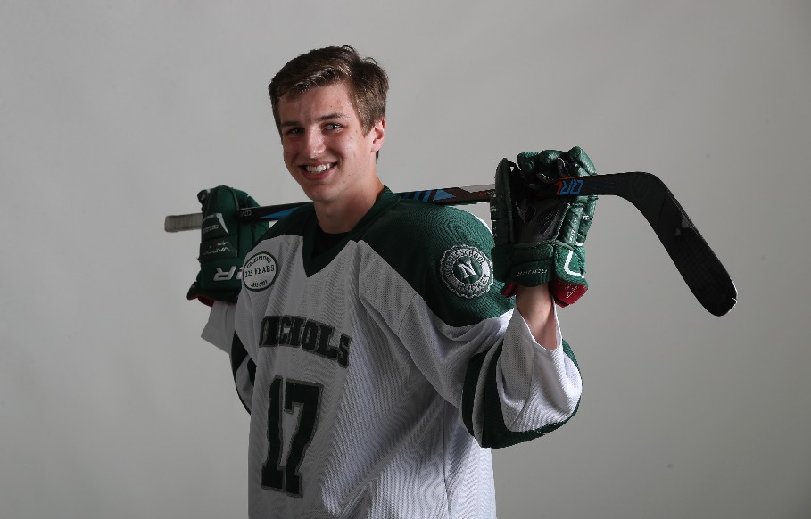 The Prep Talk Player of the Year in boys hockey is Nichols' Cole Donhauser. (James P. McCoy / Buffalo News)