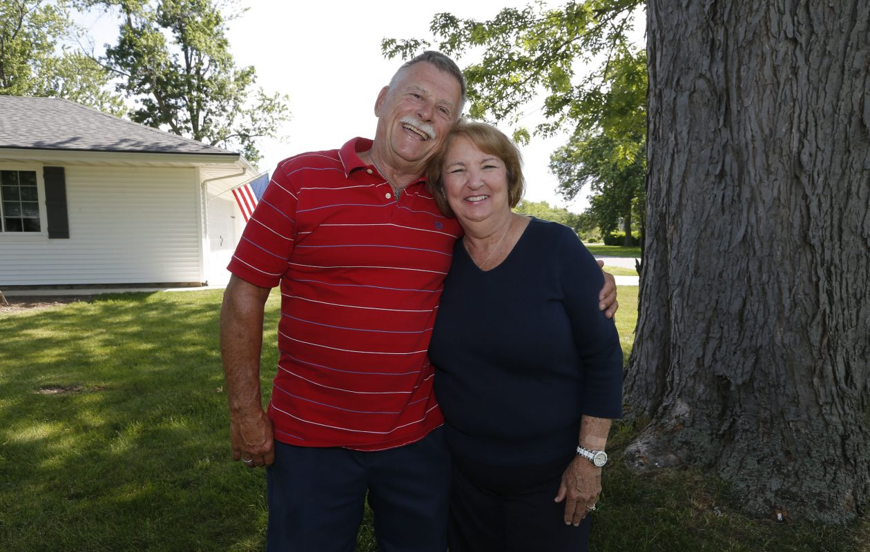 Gary Loncar, who won an 86-day trip around the world, and his wife Ruth at their home on Grand Island on Wednesday, June 14, 2017.  Loncar was one of two winners of a Fuccillo Automotive Group contest. Both  turned down the trip, valued at $42,000. (Robert Kirkham/Buffalo News)