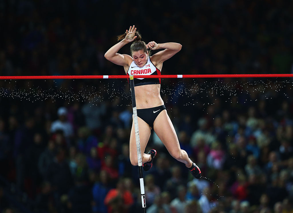 Alysha Newman of Canada, pictured at the 2014 Commonwealth Games in Glasgow, United Kingdom, edged Fredonia native and Jenn Suhr at this weekend's meet in Boston. (Getty Images)