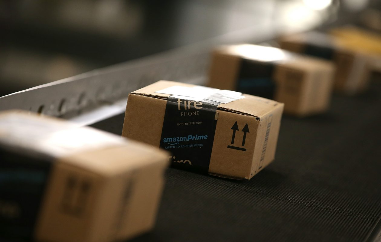 Amazon recently opened its sorting center in Lancaster. (Justin Sullivan/Getty Images)