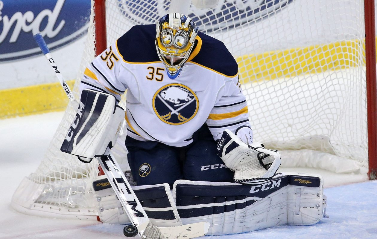 Sabres goalie Linus Ullmark was set to be a restricted free agent this summer. (Getty Images)