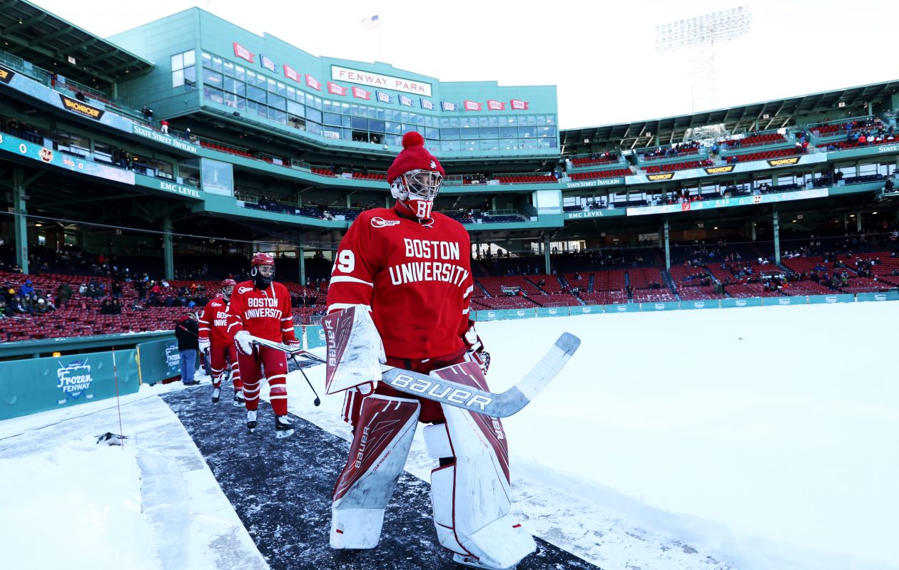 Jake Oettinger claimed the Boston University net as a true freshman. (Getty Images)
