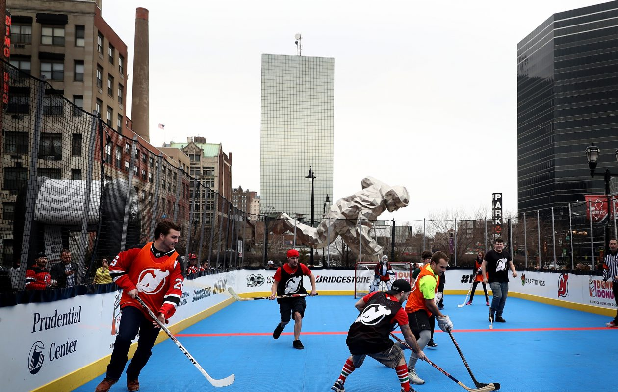 A street hockey rink is part of the NHL's free festival, which comes to Buffalo this weekend.  (Getty Images)
