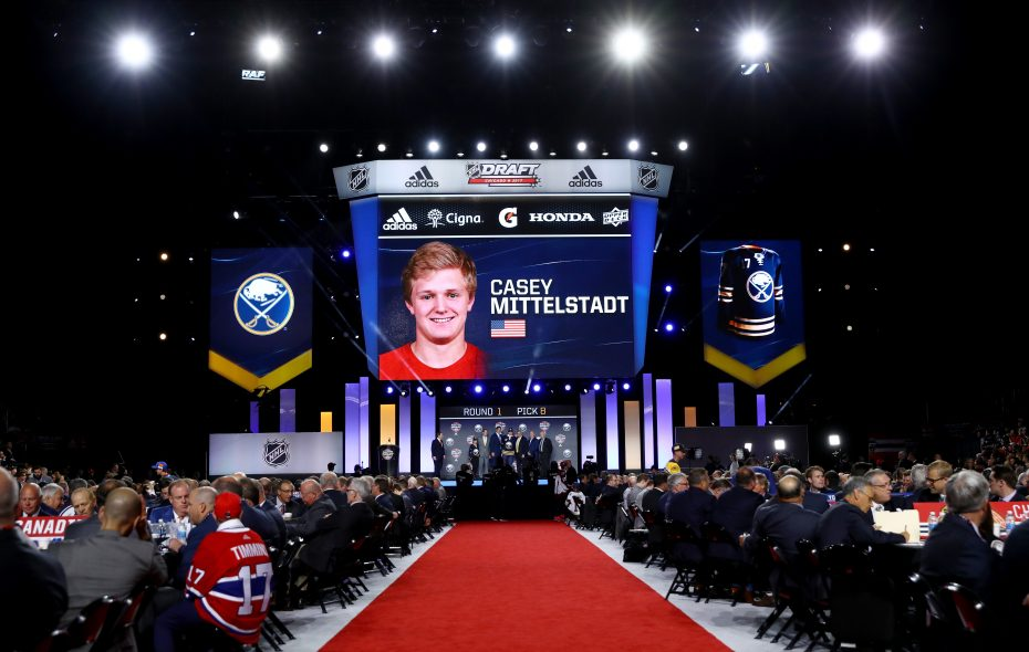 The Sabres picked center Casey Mittelstadt eighth overall. (Getty Images)