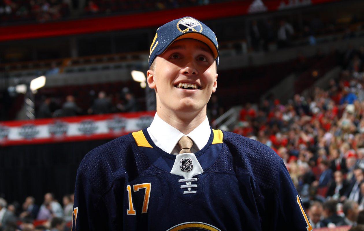 Ukko-Pekka Luukkonen sees something to work toward with Buffalo. (Getty Images)