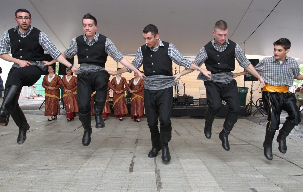 The Fotia Dancers perform traditional Greek dances at Greek Fest in 2013. (Sharon Cantillon/Buffalo News)