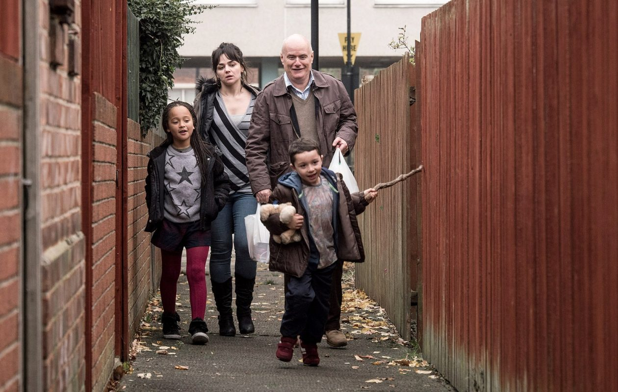 Dave Johns as Dan, Hayley Squires as Katie, Briana Shann as Daisy and Dylan McKiernan as Dylan in 'I, Daniel Blake.' (Joss Barratt, Sundance Selects)