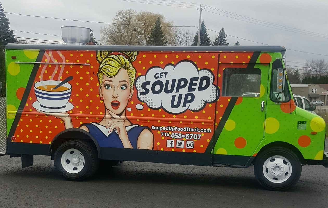 Souped Up has been named mobile-cuisine.com's graphic design of the year. (Souped Up)