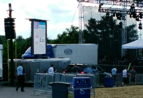 Police and security near the Artpark stage. (Photo courtesy of Bob Wilkins)