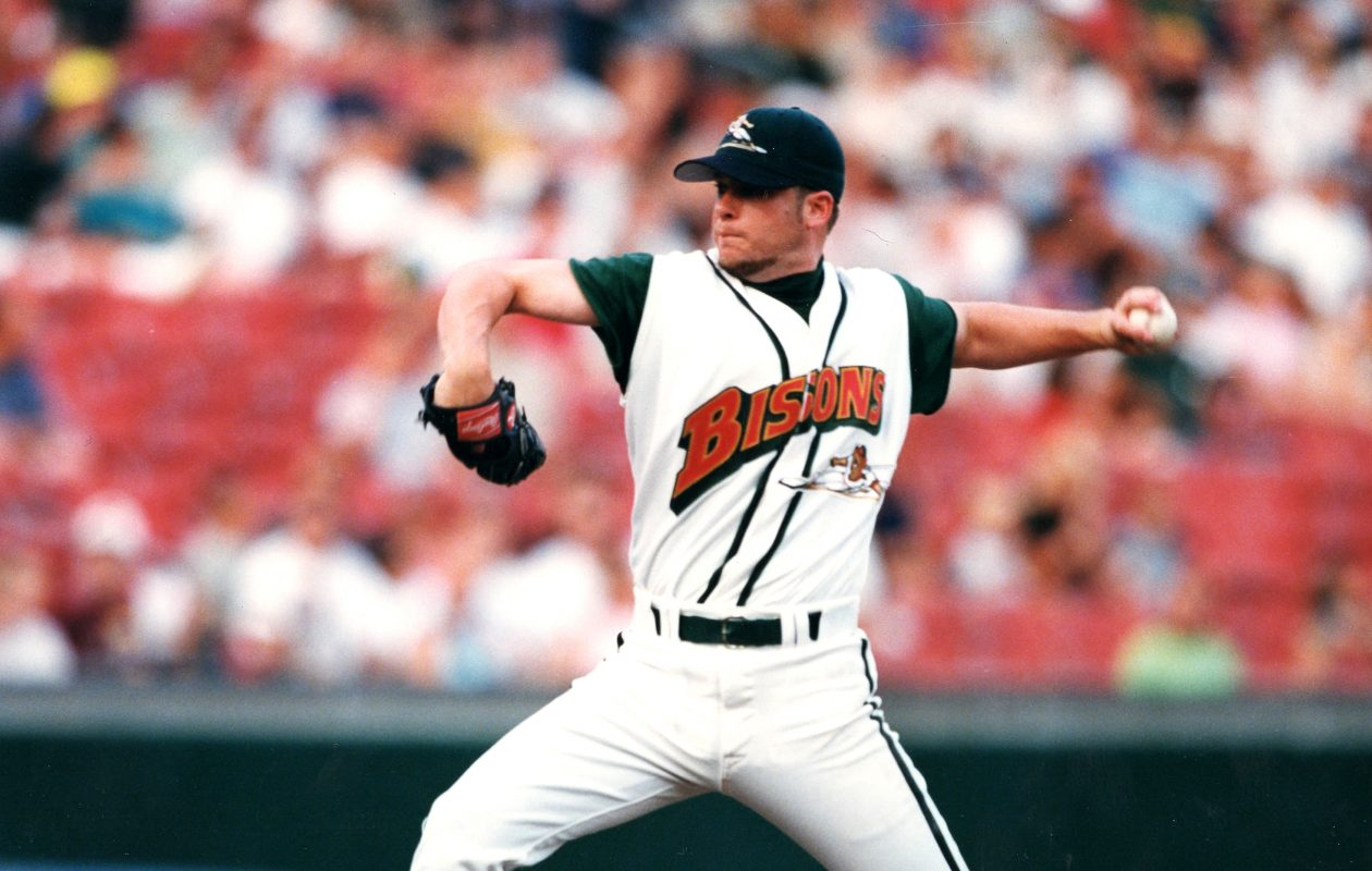 Jason Jacome went a combined 17-2 in the regular season and playoffs in 1998 (Buffalo Bisons photo).