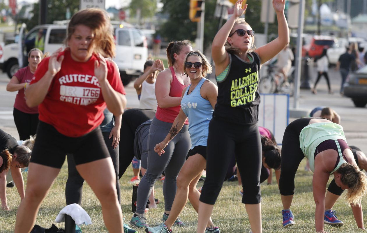 Jada Blitz Bootcamp takes place Mondays at Canalside. (Mark Mulville/News file photo)