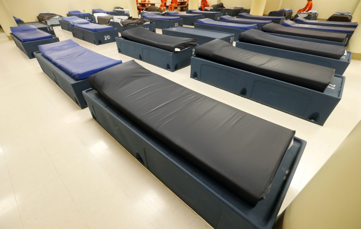 Addicted inmates detox in this unit at the Erie County Holding Center, but once they are released they lose treatment for their addiction and are likely to relapse. (Mark Mulville/Buffalo News)